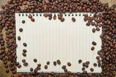 Notebook, Core, Coffee, Photo, Food Stock Photography