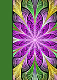Notebook cover with beautiful pattern in fractal design. Stock Photography