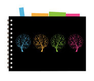Notebook cover design, art tree Royalty Free Stock Photos