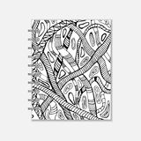 Notebook cover design with handmade snake pattern Stock Images