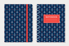 Notebook cover design. Vector set. Royalty Free Stock Photo