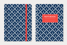Notebook cover design. Vector set. Royalty Free Stock Image