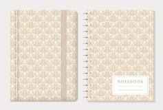 Notebook cover design. Vector set. Stock Image