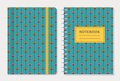 Notebook cover design. Vector set. Stock Photography