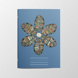 Notebook Cover with Flower Ornament Stock Images