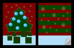 Notebook cover templates with christmas decorative motives Royalty Free Stock Photos