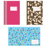 Notebook covers. 3 model covers for notebook vector illustration