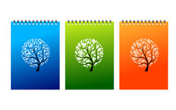 Notebook covers design, art tree Stock Images