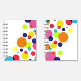 Notebook covers design with colorful circles Royalty Free Stock Image