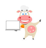 Notebook cow Stock Image