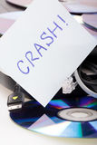 Notebook crash. In the office royalty free stock photos