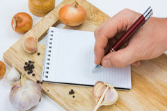 Notebook for culinary note Royalty Free Stock Photo