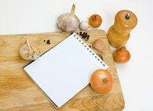Notebook for culinary note Stock Images