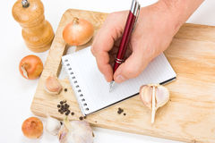 Notebook for culinary note Royalty Free Stock Image
