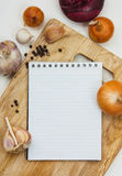Notebook for culinary note Royalty Free Stock Photography