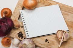 Notebook for culinary note Stock Photos