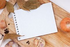 Notebook for culinary recipes Royalty Free Stock Image