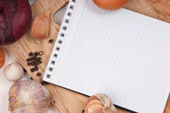 Notebook for culinary recipes Stock Photo