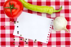 Notebook for culinary recipes Stock Images