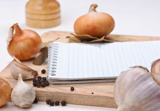 Notebook for culinary recipes Royalty Free Stock Photos