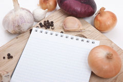 Notebook for culinary recipes Royalty Free Stock Photography