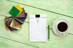 Notebook and cup of coffee Royalty Free Stock Photos