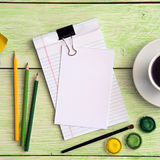 Notebook and cup of coffee Royalty Free Stock Photography