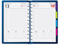 Notebook design with calendar Royalty Free Stock Photography