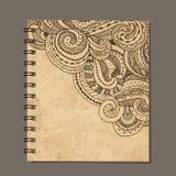 Notebook design, zenart ornament. Old grunge paper Stock Images