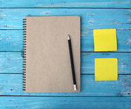 Notebook on desk Royalty Free Stock Photography