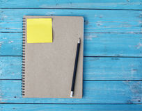 Notebook on desk Royalty Free Stock Photos