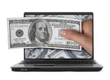 Notebook and Dollar bills Stock Photography