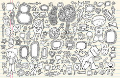 Notebook Doodle Design Elements Vector Set Stock Photography