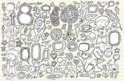Notebook Doodle Design Elements Vector Set Stock Photography