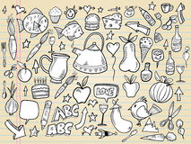 Notebook Doodle Design set Royalty Free Stock Photography