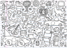 Notebook Doodle Elements Vector Set Royalty Free Stock Photo