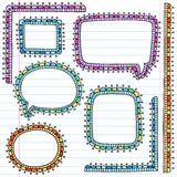 Notebook Doodle Picture Frames Vector Set Royalty Free Stock Image