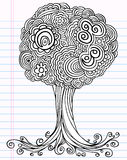 Notebook Doodle Sketch Tree Vector Stock Photos