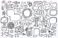 Notebook Doodle Sketch Vector Set Stock Photography