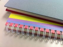 Notebook edge. Royalty Free Stock Images