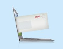 Notebook with email Stock Photography