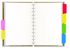 Notebook with empty pages Stock Photos