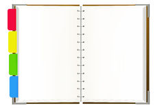Notebook with empty pages Royalty Free Stock Photography