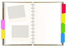 Notebook with empty pages Royalty Free Stock Photos