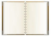 Notebook with empty pages Royalty Free Stock Photo