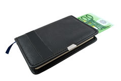 Notebook and Euro banknotes money Royalty Free Stock Photos