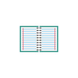 Notebook flat icon, Education and school element Stock Image