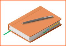 Notebook flat vector 3d illustration Stock Photos