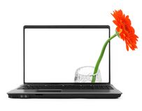 Notebook with a flower Royalty Free Stock Photos