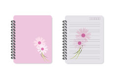 Notebook flower,  vector Royalty Free Stock Photos